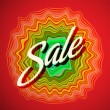Sale poster on red background - Stock Vector