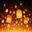 Royalty-Free Stock Imagen vectorial: Thailand, Loy Krathong and Yi Peng Festival, vector