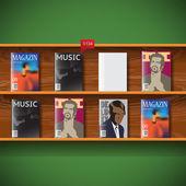 Online magazines Vector image — Stock Vector