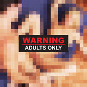 Adult 18 warning xxx vector — Wektor stockowy