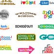 Royalty-Free Stock Vector Image: Label - School Icons
