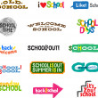 Stock Vector: Label - School Icons
