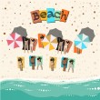 Summer beach — Stock Vector #18212633