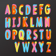 Alphabet design in colorful style — ストックベクタ