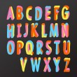 Alphabet design in colorful style — Stock vektor