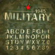 Military Vintage Alphabet — Stock Vector