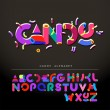Stylized candy-like alphabet - Stock Vector