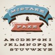 Funny alphabet letters in retro style - Stock Vector