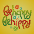 Stock Vector: Be happy be hippy