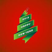 Новый год 2013 змея на красном фоне — Cтоковый вектор