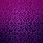 Damask seamless pattern in purple — Stock Vector