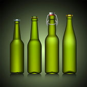Beer bottle set with no label — Vecteur