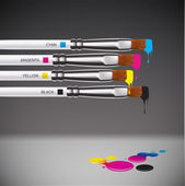 CMYK brushes — Stock Vector