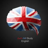 Let's go study English — Stock Vector