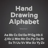 Hand drawing alphabet with chalk effect — Stock Vector