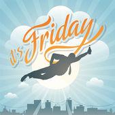 Glücklich Freitag — Stockvektor