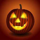 Halloween background with scary pumpkin — Vector de stock