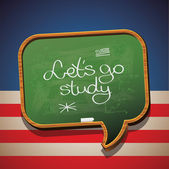 Let's go study English — Stockvektor