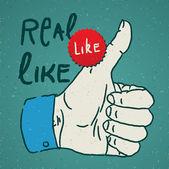 Thumbs Up symbol — Stock Vector