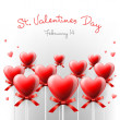 Valentine's Day card with lollipops heart shaped — Stock Vector