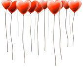 Valentines day background with heart balloons — Vector de stock