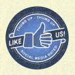 Royalty-Free Stock Photo: Like us Icon, Illustration icon social networks