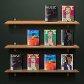 Bookshelf — Stok Vektör