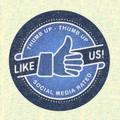 Like us Icon, Illustration icon social networks — Stock Vector