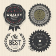 Vintage set premium quality and guarantee labels - Stock Vector