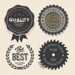 ヴィンテージ セット ・ プレミアム品質・保証ラベル — ストックベクタ