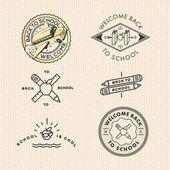 Vector set vintage school labels — Stock Vector