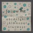 Handwriting Alphabet - Follow me - Vettoriali Stock