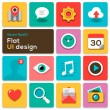 Flat UI design trend set icons — Stock Vector
