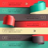 Moderní design infographic šablona — Stock vektor
