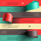 Modern design infographic template — Vettoriale Stock