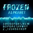 Ice font collection - Vektorgrafik