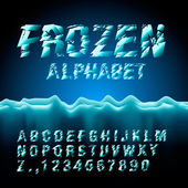 Ice font collection — Stock Vector