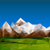 Mountainous terrain, polygonal background — Stock Vector