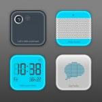 Vector App Icon Set — Stock Vector