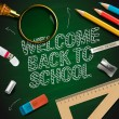 Welcome back to school — Vector de stock