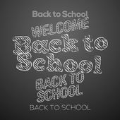 Back to school design elements — Stock Vector