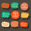 Set of colorful speech bubbles — Vettoriali Stock
