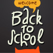 Stock Vector: Welcome Back to school background