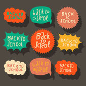 Set of colorful speech bubbles — Vecteur