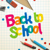 Welcome back to school — Stock Vector
