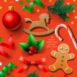 Set of Christmas element — Imagen vectorial