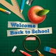 Welcome back to school — ストックベクタ