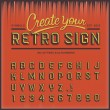Retro type font, vintage typography — Stockvectorbeeld