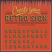 Retro type font, vintage typography — Stock Vector