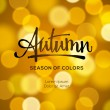 Abstract autumn defocused gold background — Stock Vector